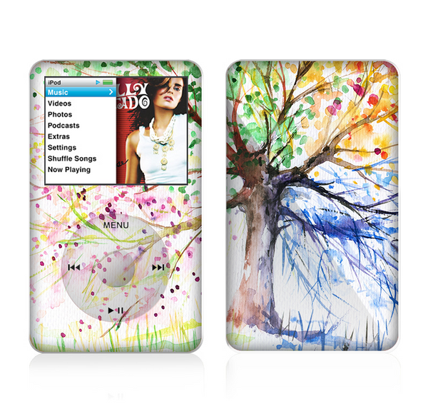 The WaterColor Vivid Tree Skin For The Apple iPod Classic