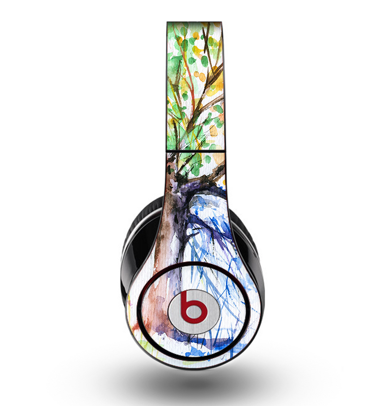The WaterColor Vivid Tree Skin for the Original Beats by Dre Studio Headphones