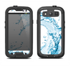 The Water Splashing Wave Samsung Galaxy S3 LifeProof Fre Case Skin Set
