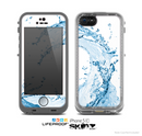 The Water Splashing Wave Skin for the Apple iPhone 5c LifeProof Case