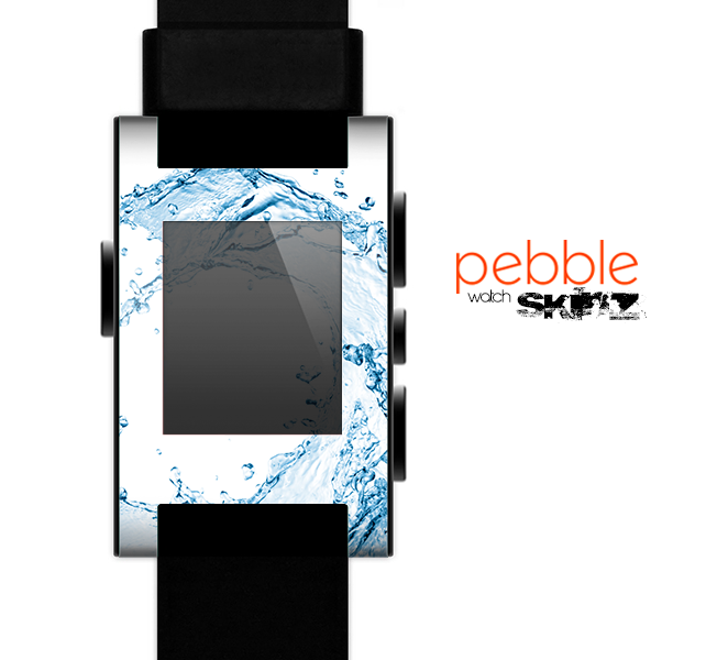 The Water Splashing Wave Skin for the Pebble SmartWatch