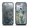 The Watercolor Blue Vintage Flowers Apple iPhone 6 LifeProof Fre Case Skin Set
