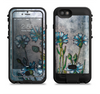 the watercolor blue vintage flowers  iPhone 6/6s Plus LifeProof Fre POWER Case Skin Kit