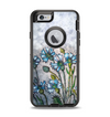 The Watercolor Blue Vintage Flowers Apple iPhone 6 Otterbox Defender Case Skin Set