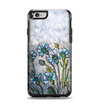 The Watercolor Blue Vintage Flowers Apple iPhone 6 Otterbox Symmetry Case Skin Set