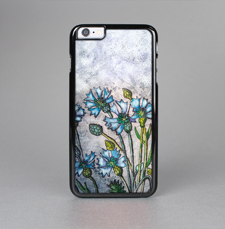 The Watercolor Blue Vintage Flowers Skin-Sert Case for the Apple iPhone 6 Plus