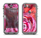 The Watercolor Bright Pink Floral Apple iPhone 5c LifeProof Nuud Case Skin Set