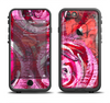 The Watercolor Bright Pink Floral Apple iPhone 6 LifeProof Fre Case Skin Set