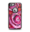 The Watercolor Bright Pink Floral Apple iPhone 6 Otterbox Defender Case Skin Set