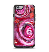 The Watercolor Bright Pink Floral Apple iPhone 6 Otterbox Symmetry Case Skin Set