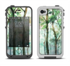 The Watercolor Glowing Sky Forrest Apple iPhone 4-4s LifeProof Fre Case Skin Set