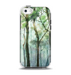 The Watercolor Glowing Sky Forrest Apple iPhone 5c Otterbox Symmetry Case Skin Set