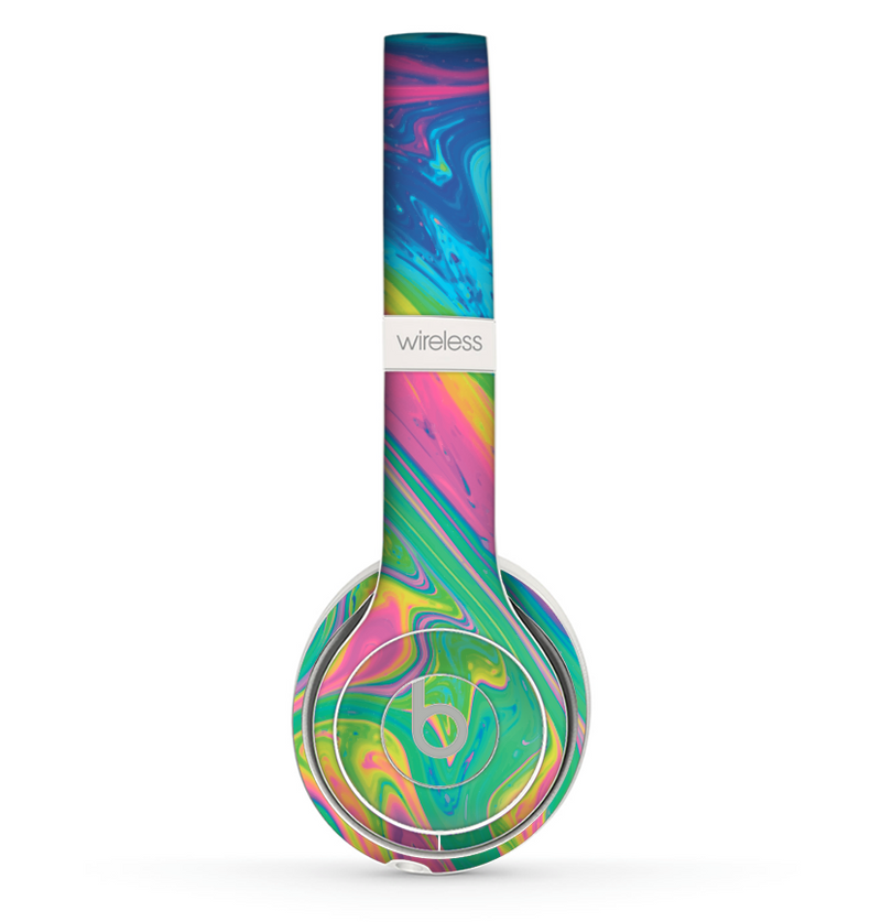 The Watercolor Neon Color Fusion V3 Skin Set for the Beats by Dre Solo 2 Wireless Headphones