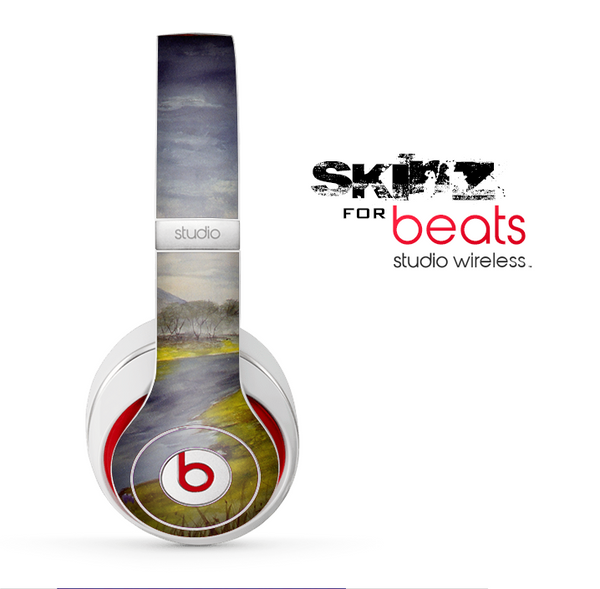 The Watercolor River Scenery Skin for the Beats by Dre Studio Wireless Headphones