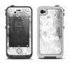 The Watered Floral Glass Apple iPhone 4-4s LifeProof Fre Case Skin Set