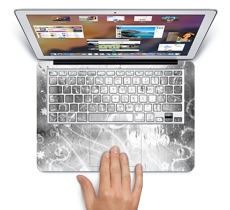 "The Watered Floral Glass Skin Set for the Apple MacBook Pro 15"" with Retina Display"