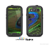The Watered Neon Peacock Feather Skin For The Samsung Galaxy S3 LifeProof Case