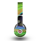 The Watered Neon Peacock Feather Skin for the Beats by Dre Original Solo-Solo HD Headphones