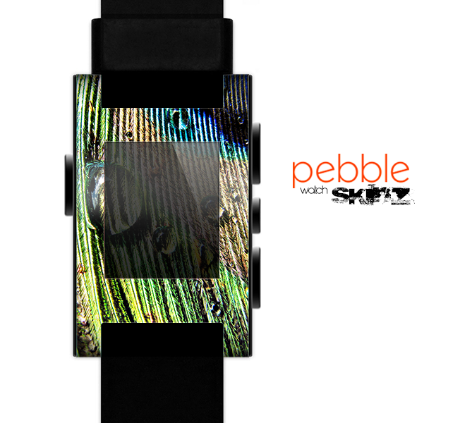 The Watered Peacock Detail Skin for the Pebble SmartWatch