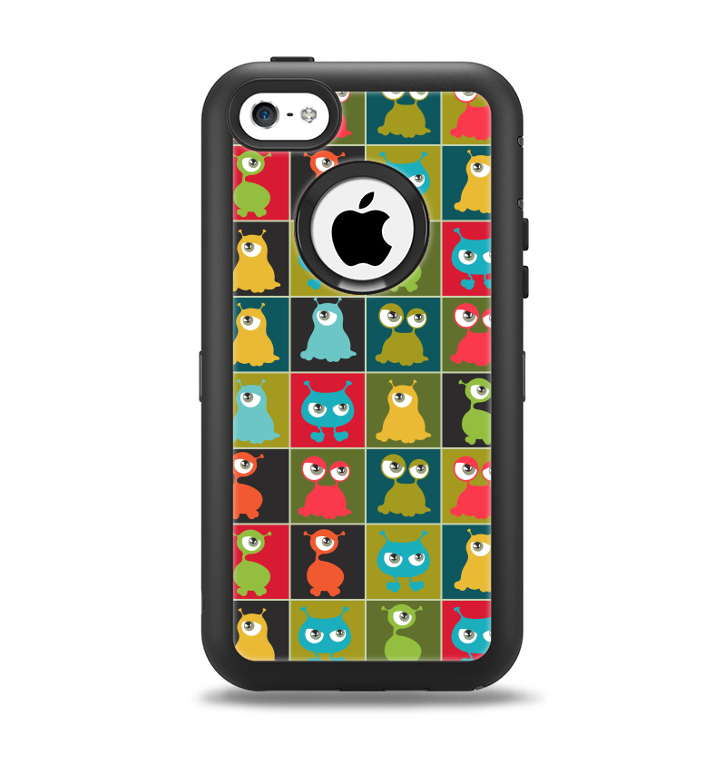 watch b1c92 451ab The Weird Abstract EyeBall Creatures Apple iPhone 5c Otterbox Defender Case  Skin Set
