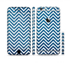 The White & Blue Glitter Print Sharp Chevron Sectioned Skin Series for the Apple iPhone 6