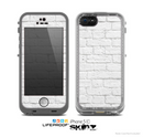 The White Brick Wall Skin for the Apple iPhone 5c LifeProof Case