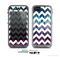 The White Chevron & Pink & Blue Vector Swirly HD Strands Skin for the Apple iPhone 5c LifeProof Case