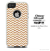The White Chevron and WoodGrain Skin For The iPhone 4-4s or 5-5s Otterbox Commuter Case