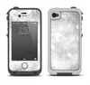 The White Cracked Rock Surface Apple iPhone 4-4s LifeProof Fre Case Skin Set