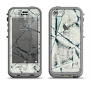 The White Cracked Woven Texture Apple iPhone 5c LifeProof Nuud Case Skin Set