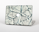 "The White Cracked Woven Texture Skin Set for the Apple MacBook Pro 15"" with Retina Display"