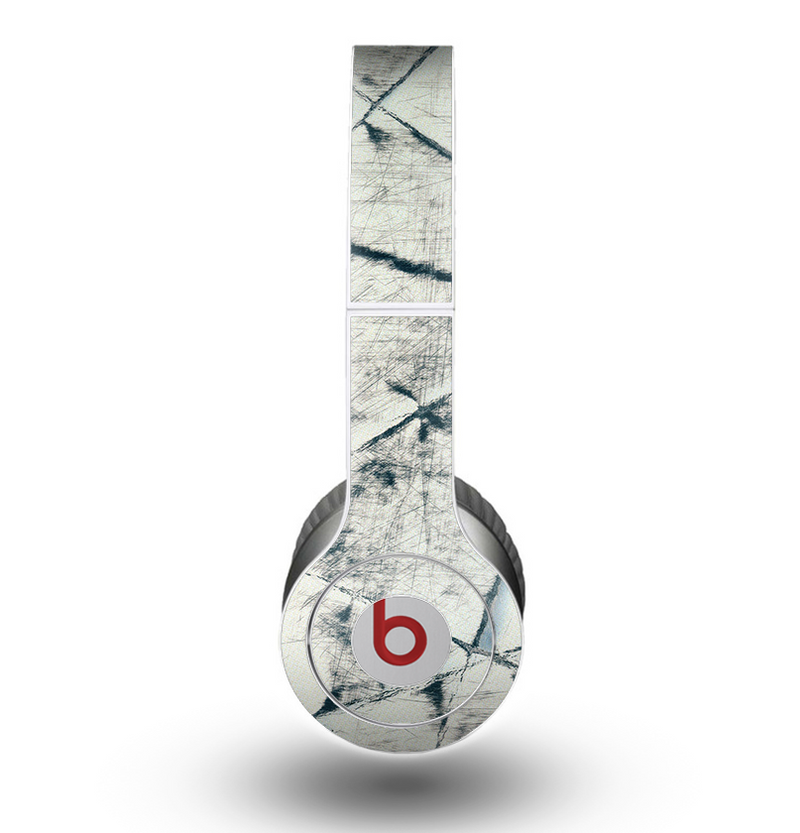 The White Cracked Woven Texture Skin for the Beats by Dre Original Solo-Solo HD Headphones