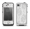 The White Floral Lace Apple iPhone 4-4s LifeProof Fre Case Skin Set