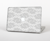"The White Floral Lace Skin Set for the Apple MacBook Pro 15"" with Retina Display"