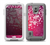 The White Flower Ornament on Pink Skin Samsung Galaxy S5 frē LifeProof Case