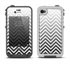 The White & Gradient Sharp Chevron Apple iPhone 4-4s LifeProof Fre Case Skin Set
