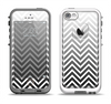 The White & Gradient Sharp Chevron Apple iPhone 5-5s LifeProof Fre Case Skin Set