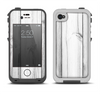 The White & Gray Wood Planks Apple iPhone 4-4s LifeProof Fre Case Skin Set