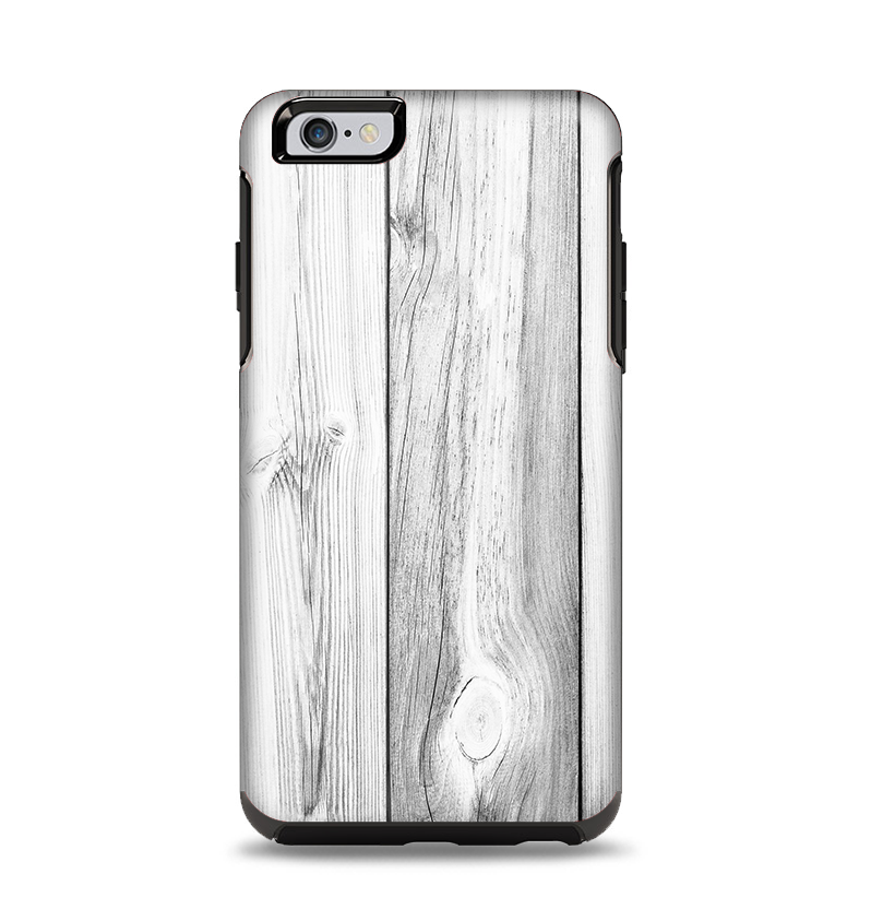 wholesale dealer 94019 d12a0 The White & Gray Wood Planks Apple iPhone 6 Plus Otterbox Symmetry Case  Skin Set