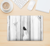 "The White & Gray Wood Planks Skin Kit for the 12"" Apple MacBook"
