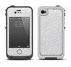 The White Leather Texture Apple iPhone 4-4s LifeProof Fre Case Skin Set
