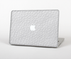 The White Leather Texture Skin Set for the Apple MacBook Pro 15""