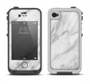 The White Marble Surface Apple iPhone 4-4s LifeProof Fre Case Skin Set