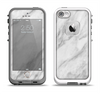 The White Marble Surface Apple iPhone 5-5s LifeProof Fre Case Skin Set