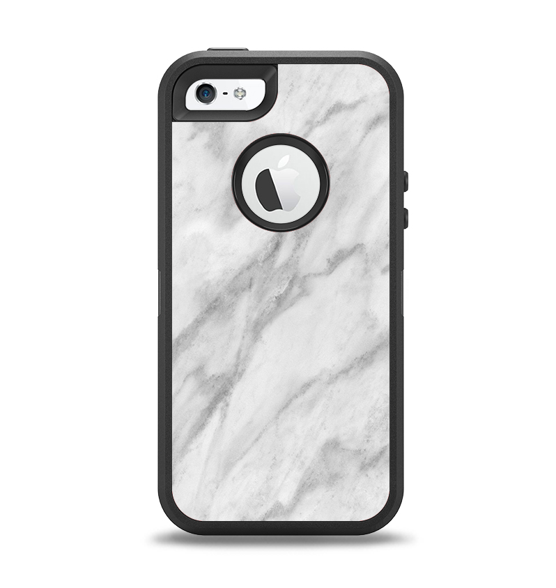 promo code f0763 74688 The White Marble Surface Apple iPhone 5-5s Otterbox Defender Case Skin Set