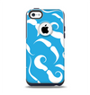 The White Mustaches with blue background Apple iPhone 5c Otterbox Commuter Case Skin Set