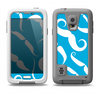 The White Mustaches with blue background Samsung Galaxy S5 LifeProof Fre Case Skin Set