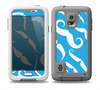 The White Mustaches with blue background Skin Samsung Galaxy S5 frē LifeProof Case