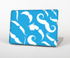 The White Mustaches with blue background Skin Set for the Apple MacBook Pro 15""