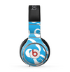 The White Mustaches with blue background Skin for the Beats by Dre Pro Headphones
